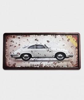 Plaque d'immatriculation US décor  Porsche targa