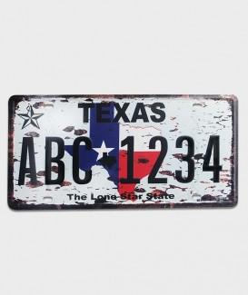 Plaque d'immatriculation US décorde l'état du Texas