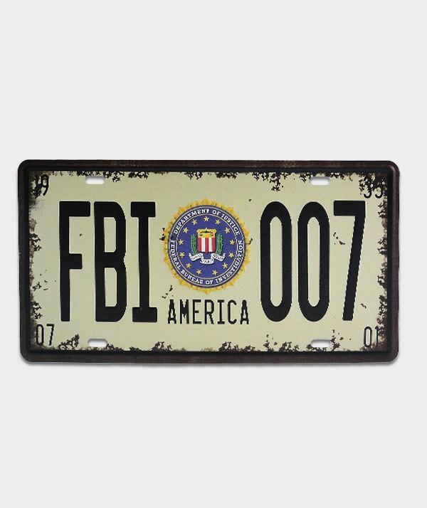 Plaque mma FBI 007