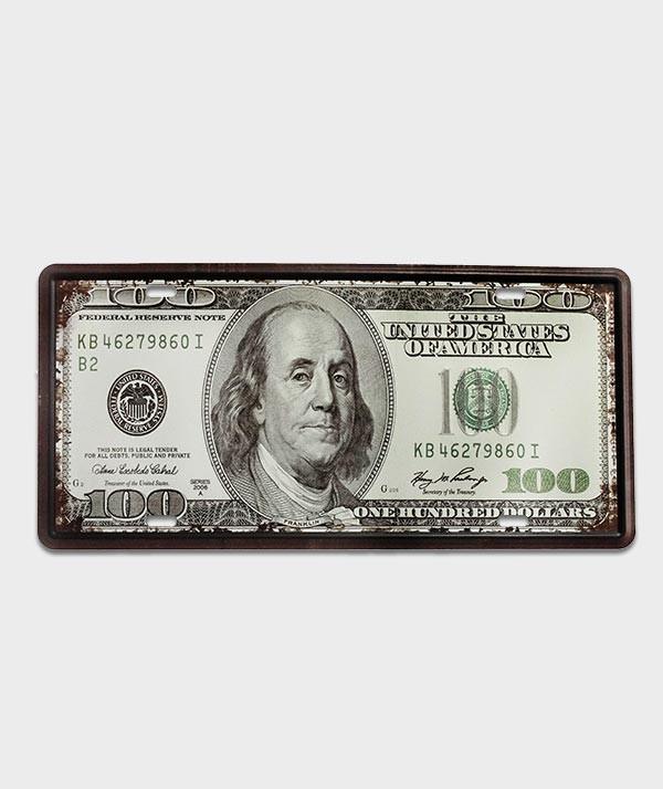 plaque immatriculation dollars