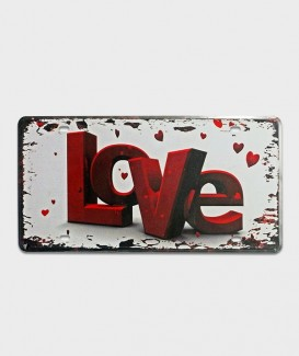 Plaque d'immatriculation US Love