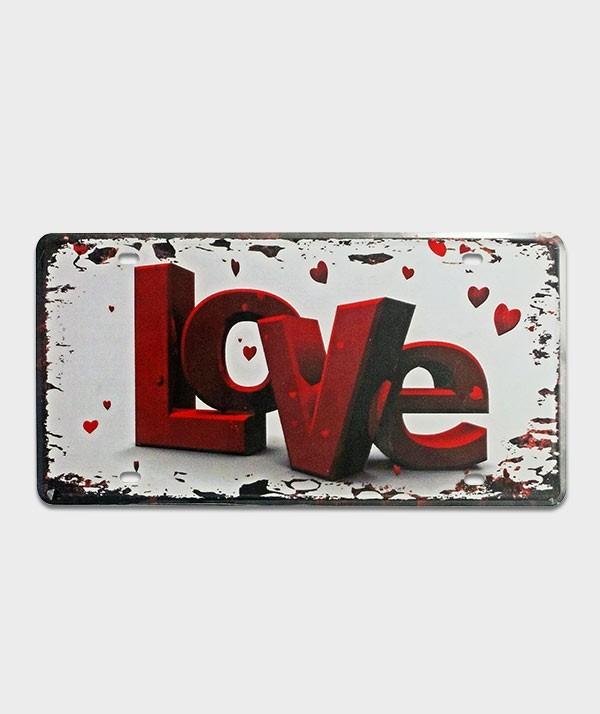 Plaque d'immatriculation US Love