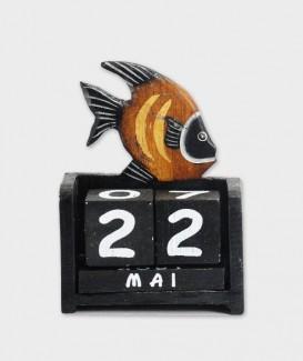 poisson noir calendrier