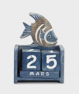 poisson bleu calendrier