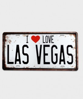 Plaque d'immatriculation US I love Las Vegas