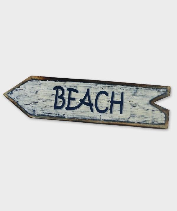 enseigne beach flèche blanc