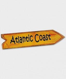 enseigne atlantic coast flèche jaune