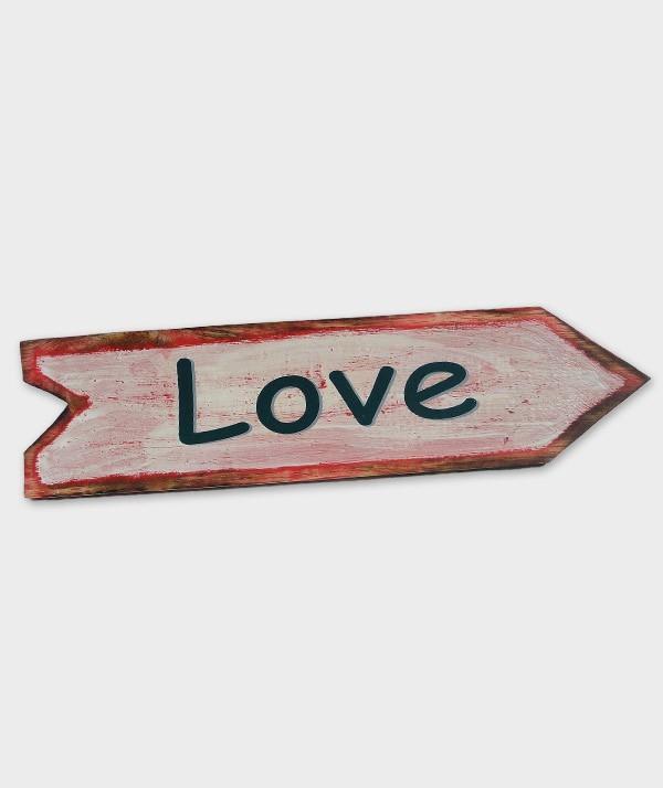 enseigne love flèche blanc