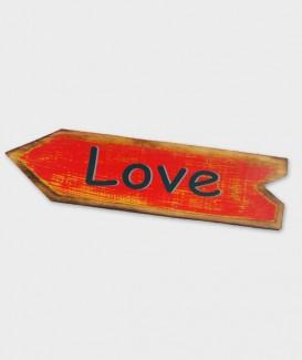 enseigne love flèche rouge
