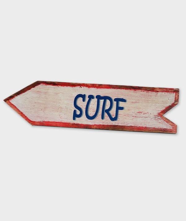 enseigne surf flèche blanc