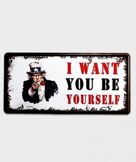 plaque décorative Plaque d'immatriculation US décor l want you