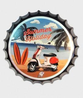 capsule de bouteille Déco murale Summer Holliday