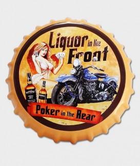 capsule de bouteille Déco murale Pin Up Liquor in Front