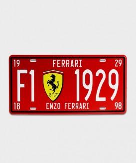 Plaque d'immatriculation US  Ferrari rouge