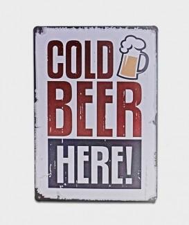 Plaque déco ici bière fraiche