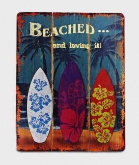 plaque décorative  de planche de surfeur