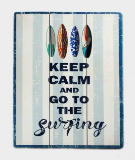 Keep Calm fait du surf