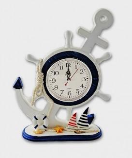 Horloge  déco Marineet ses deux voiliers