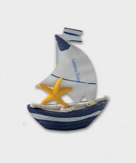 Bateau double voile en métal déco marine souvenir de Lacanau Océan