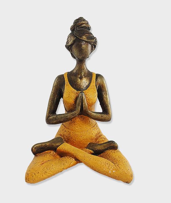 statuette Yogie orange