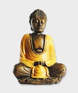 Statuette Bouddha jaune