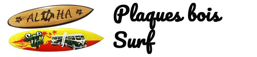 Plaque-planche en bois syle surf