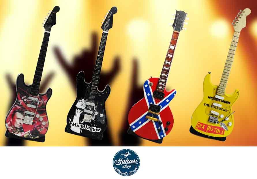 Mini Instrument de musique, modèle décoratif pour collection de Guitare électrique(factice)