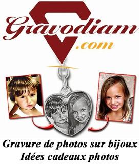 """Gravure de photos sur bijoux """"Partenaire officiel de Makasi-shop"""""""